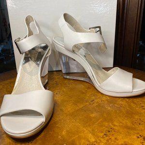 Michael Kors white wedge sandal